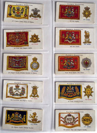 Full Set of 50 Cigarette cards: Drum Banners and Badges (1924)