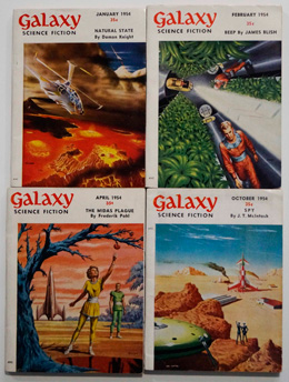 Galaxy Science Fiction – 4 early issues January, February, April and October 1954