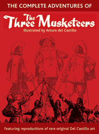 The Three Musketeers drawn by Arturo del Castillo